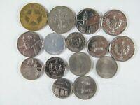 Lote 15 Monedas De Cu ba Diferentes Buena Calidad| World Coins