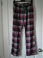 Topshop checked pyjama trouser bottoms *BNWT* magenta pink *polyester* winter