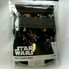 """Star Wars Mens Boxer Briefs LARGE 2 Pack  36""""- 38"""" Brand NEW"""