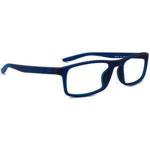 Nike Eyeglasses 7119 401 Matte Blue Rectangular Frame 53[]17 140