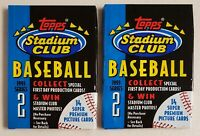 1993 Topps Stadium Club Series 2 Baseball Cards Lot of 2 (Two) Unopened Packs.