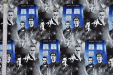 Doctor Who Fabric - Recent Doctors & Tardis. 100% Cotton by Springs Creative