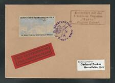 1934 GERMANY Zucker souvenir rocket mail card with EZ 6A3