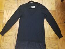 Maison Margiela MM6 Black V-Neck Women's Sweater US M