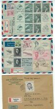 Three 1948-49 Czechoslovakia Registry Airmail to US Cerveny Kostelec & Sobotka
