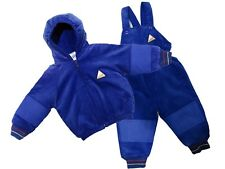 NEW KIDS  HOODED ALL IN ONE PADDED WINTER WARM RAINSUIT SNOW SUIT BLUE RRP £39