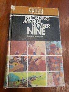 Speer Reloading Manual Number 9 Edition Rifle Pistol Handload Cartridge Book '74