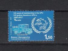 Bosnien Herzegowina Bosnia 2017 MNH **1710 Jubilee 125 Year Member of UPU