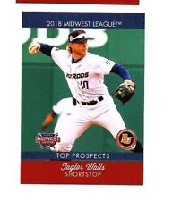 Taylor Walls 2018 Midwest League Top Prospect card Bowling Green Hot Rods