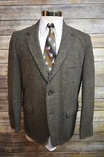 Vintage Harris Tweed Herringbone Sport Coat Jacket Three Button 40