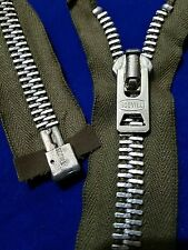 """USA Vtg""""SCOVILL""""M-51 M-65ARMY/MILITARY OD JACKET METAL REPAIR/REPLACEMENT ZIPPER"""