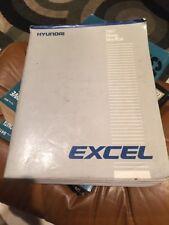 1987 HYUNDAI EXCEL Service Repair Workshop Shop Manual OEM