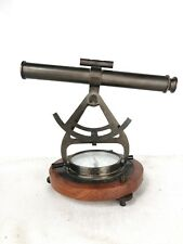 Nautical Decor Alidade Compass Sculpture Telescope
