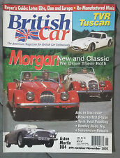 BRITISH CAR MAGAZINE 2002 #99 OCTOBER NOVEMBER MORGAN TVR TUSCAN ASTON MARTIN DB