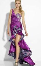 Riva Designs Prom Dress R9635 Purple Size 8 NWT