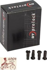 DT SWISS PRO LOCK PRO HEAD 2.0 X 12MM BLACK BRASS BIKE SPOKE NIPPLES--BOX OF 100