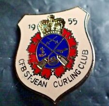 Vintage Curling Club Pin - CFB St. Jean Curling Club 1955