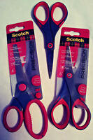"3M SCOTCH PRECISION 6"" SCISSORS 3 PACK STAINLESS STEEL SMOOTH CUTTING FREE SHIP"