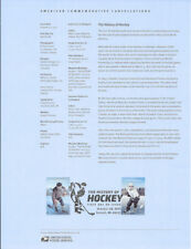 #1735 (49c)  Forever The History of Hockey Stamp #5252 #5253 Souvenir Page-Fix