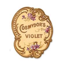Vintage Style Retro Cosmydors Violet Steel Sign 9 x11