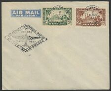 Senegal 1937 First Flight cover FFC to Morocco