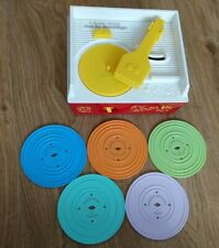 Fisher Price Music Box Record Player Vintage Style Toy With 5 Discs Wind Up 2010