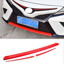For Toyota Camry 2018-2020 RED Front intermediate Grille + bumper Cover Trim