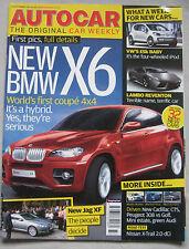 Autocar magazine 12/9/2007 featuring Nissan, Jaguar, VW Golf, Peugeot