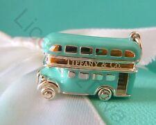 TIFFANY & CO DOUBLE DECKER BUS BRAND NEW TIFFANY BLUE STERLING BLUE ENAMEL