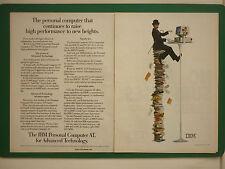 5/1986 PUB IBM PERSONAL COMPUTER AT PC CHARLIE CHAPLIN ORDINATEUR ORIGINAL AD