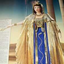 NRFB FRANKLIN MINT DOLL ELIZABETH TAYLOR CLEOPATRA PORCELAIN QUEEN OF EGYPT +COA