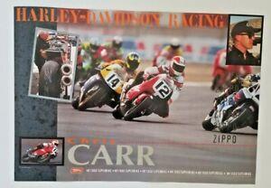 Vintage Poster 1997 Chris Carr Harley Davidson VR1000 Superbike Thomas Wilson