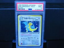 1998 Pokemon Japanese Team Rocket Dark Dragonite Holo PSA 9 Mint
