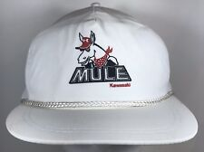 9e2b9b1e Vintage Mule Kawasaki White Trucker SnapBack Hat Riding Trail Outdoor Ride