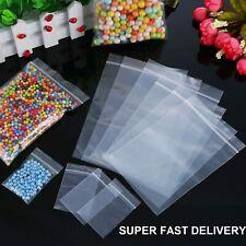 100 x bolsas de Sello de Agarre Plástico Transparente Resellable prensa Poly Super entrega rápida