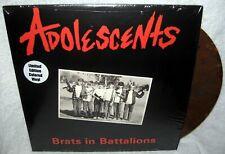 ADOLESCENTS Brats In Battalions LP PUNK ROCK Melodic Hardcore COLOR VINYL Repres