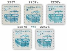 2257 2257a 2257s 2257b 2257c Canal Boat 10c Set of 5 Transportation MNH -Buy Now