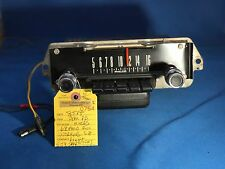 1968 FORD FULL SIZE AM PUSH BUTTON RADIO AND SPEAKER (WORKING)