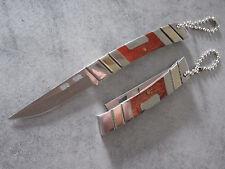 Mini couteau de poche Albainox , manche bois et métal