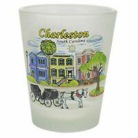 CHARLESTON SOUTH CAROLINA HOUSES FROSTED SHOT GLASS SHOTGLASS