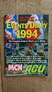 MOTORCYCLE MOTORCYCLE RACING EVENTS DIARY 1994 ISLE OF MAN MANX