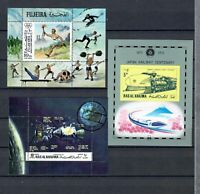 UAE  MIDDLE EAST COLLECTION  USED SOUVENIR SHEET SEE 2 SCANS LOT (MEA 84)