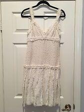 Chanel 2004 Cruise 04C White Tweed Dress Pleated Skirt Size 38 *FLASH SALE!*