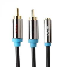 DiGiYes 3.5mm Femmina a 2 RCA stereo jack maschio cavo adattatore audio