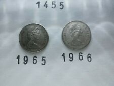 Lot 1455: CANADA Silver dimes 10 cents (2) 1965 1966 FREE SHIPPING