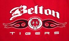 BELTON High School lrg red T shirt TIGERS mascot tee Texas tribal BHS logo OG
