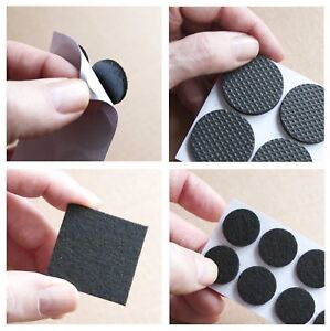 Felt Pads Floor Protector Furniture Feet Black Self Adhesive Sticky Back