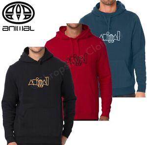Animal Mens Heriter Overhead Hooded Pullover Sweatshirt Jumper Top Hoodie