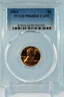PR68RD CAM 1964 RED LINCOLN CAMEO PENNY PCGS GRADED 1C PROOF RARE COIN US