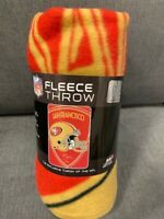 San Francisco 49ers Shield Fleece Throw Blanket NEW Superbowl NFL Football